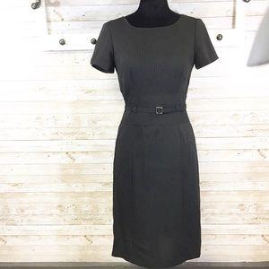 Tahari ASL Essentials pinstriped black dress sz 2